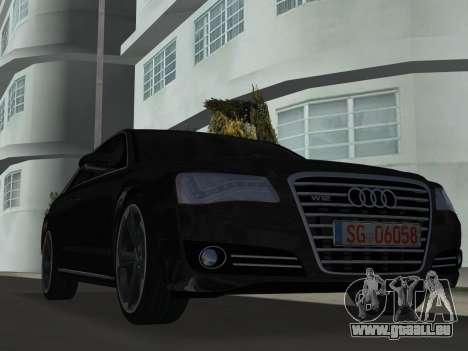 Audi A8 2010 W12 Rim6 pour une vue GTA Vice City de la gauche