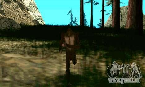 Sasquatch (Bigfoot) sur le mont Chiliade pour GTA San Andreas troisième écran
