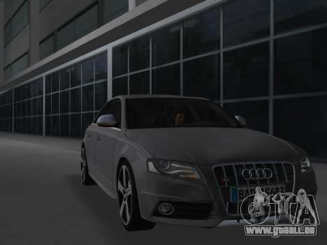 Audi S4 (B8) 2010 - Metallischen pour une vue GTA Vice City de la gauche