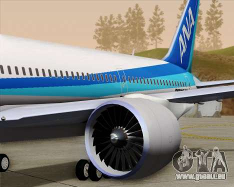 Boeing 787-9 All Nippon Airways für GTA San Andreas Räder
