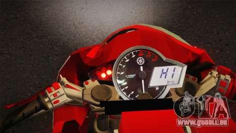 Yamaha New V-Ixion Lightning Concept Variasi für GTA San Andreas zurück linke Ansicht