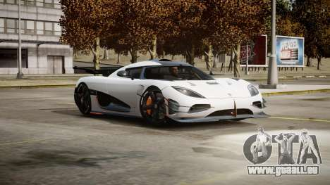 Koenigsegg Agera One:1 air core pour GTA 4 est un côté
