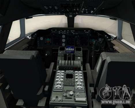 Boeing 747-8 Cargo Cathay Pacific Cargo für GTA San Andreas Innen