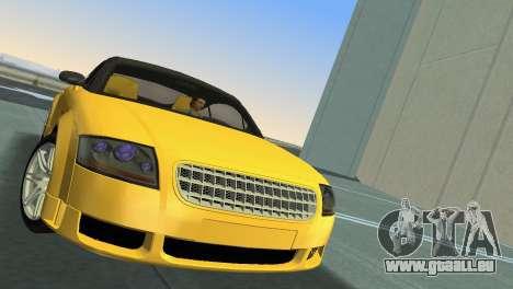 Audi TT Coupe BiMotor Black Revel pour GTA Vice City sur la vue arrière gauche
