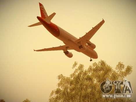 Airbus A320-214 TAM Airlines pour GTA San Andreas vue de dessous