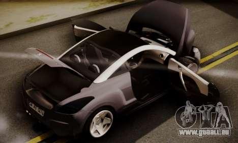 Peugeot RCZ für GTA San Andreas Rückansicht