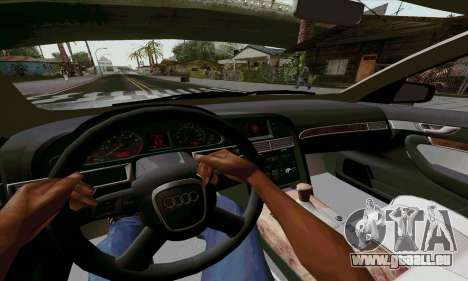 Audi A6 für GTA San Andreas Rückansicht