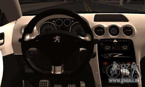 Peugeot RCZ pour GTA San Andreas sur la vue arrière gauche