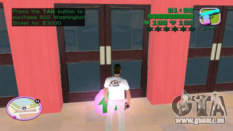 Green Font Color With Logo pour le quatrième écran GTA Vice City