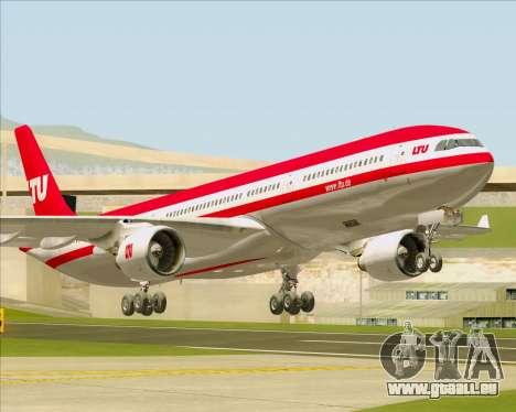 Airbus A330-300 LTU International für GTA San Andreas zurück linke Ansicht