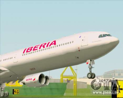 Airbus A340-642 Iberia Airlines pour GTA San Andreas vue arrière