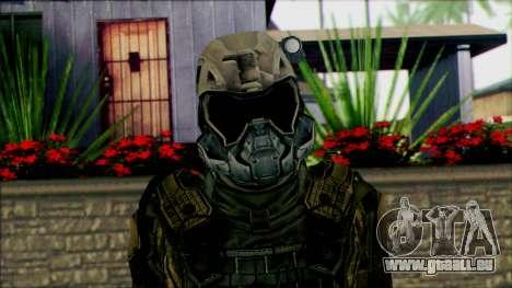 Les soldats de l'équipe de Fantôme 2 pour GTA San Andreas troisième écran