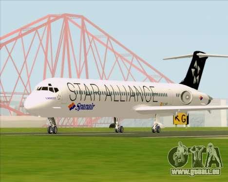 McDonnell Douglas MD-82 Spanair für GTA San Andreas Rückansicht