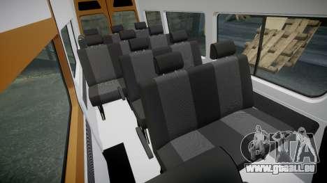 Mercedes-Benz Sprinter 313 cdi pour GTA 4 est une vue de l'intérieur