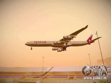 Airbus A340-600 Qatar Airways pour GTA San Andreas vue de dessous