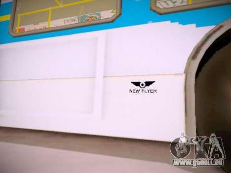 NewFlyer D40LF TransLink Vancouver BC für GTA San Andreas Unteransicht