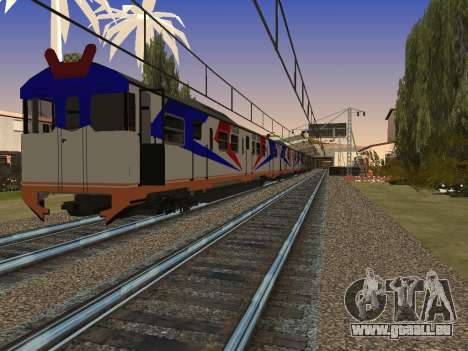 Indonésien train diesel MCW 302 pour GTA San Andreas