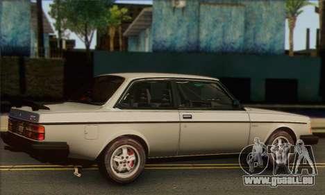 Volvo 242 Turbo 1983 pour GTA San Andreas laissé vue