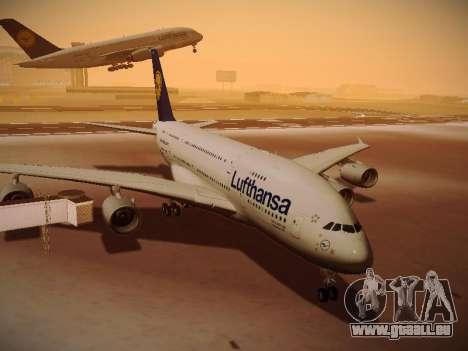 Airbus A380-800 Lufthansa pour GTA San Andreas laissé vue