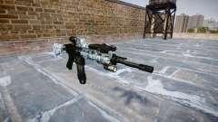 Automatische Gewehr Colt M4A1 Schädel