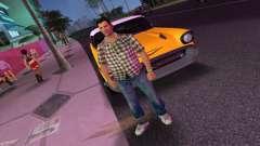 Kockas polo - barna T-Shirt pour GTA Vice City