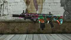 Graffiti Assault rifle v2 für GTA San Andreas