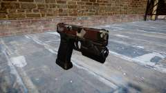 Pistole Glock 20 sind blutunterlaufen
