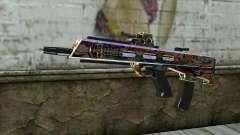 Graffiti Assault rifle pour GTA San Andreas