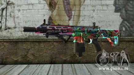 Graffiti Assault rifle v2 pour GTA San Andreas