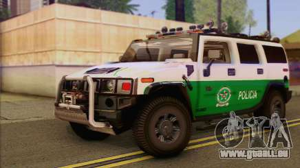 Hummer H2 Colombian Police pour GTA San Andreas