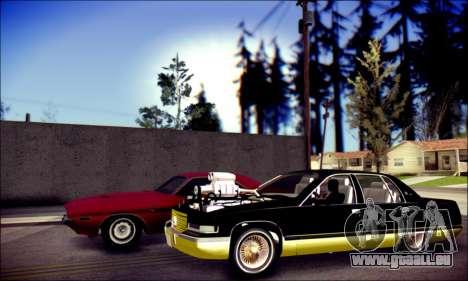 Cadillac Fleetwood 1993 Lowrider für GTA San Andreas zurück linke Ansicht
