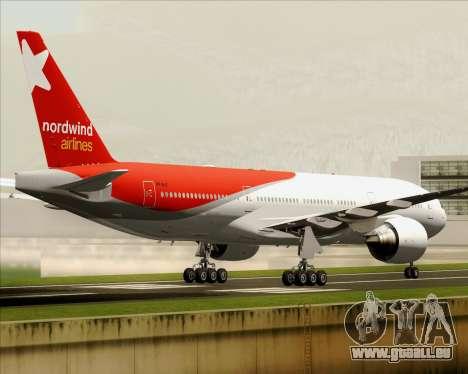 Boeing 777-21BER Nordwind Airlines pour GTA San Andreas vue intérieure