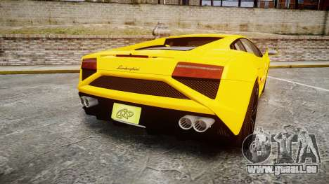 Lamborghini Gallardo 2013 Honoka Kousaka pour GTA 4 Vue arrière de la gauche