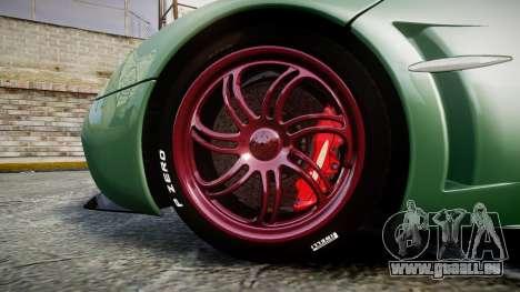 Pagani Huayra 2013 pour GTA 4 Vue arrière