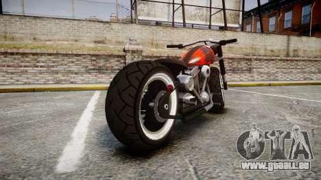 Steel Horse Zombie pour GTA 4 Vue arrière de la gauche