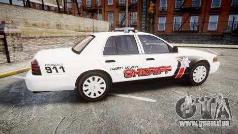 Ford Crown Victoria LC Sheriff [ELS] pour GTA 4 est une gauche