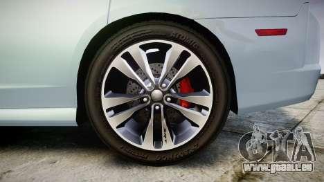 Dodge Charger SRT8 für GTA 4 Rückansicht