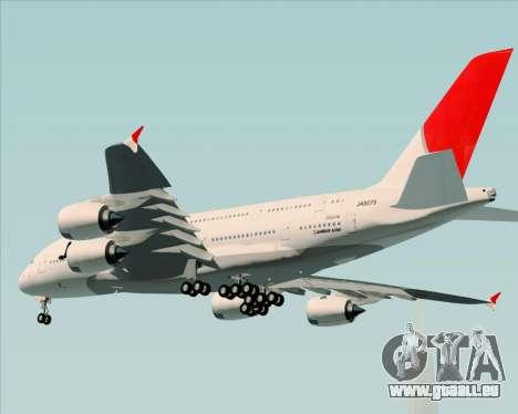 Airbus A380-800 Japan Airlines (JAL) pour GTA San Andreas vue arrière