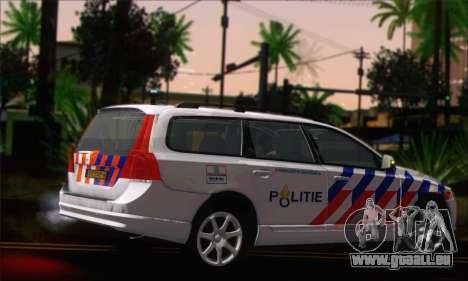 Volvo V70 LE Politie pour GTA San Andreas laissé vue