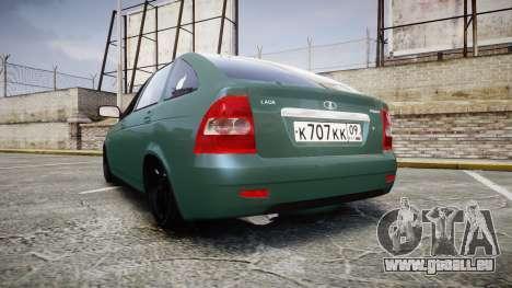 VAZ-Priora 2172 Fixe pour GTA 4 Vue arrière de la gauche
