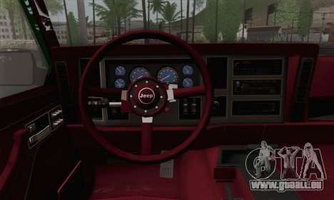 Jeep Cherokee 1998 Off Road 4x4 für GTA San Andreas zurück linke Ansicht