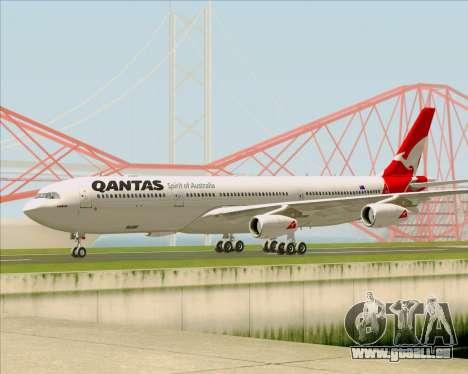 Airbus A340-300 Qantas pour GTA San Andreas sur la vue arrière gauche