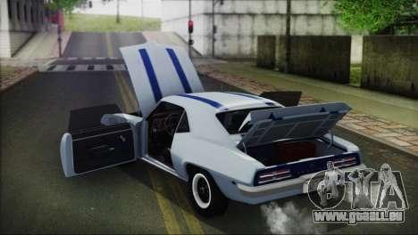 Pontiac Firebird Trans Am Coupe (2337) 1969 pour GTA San Andreas vue de côté