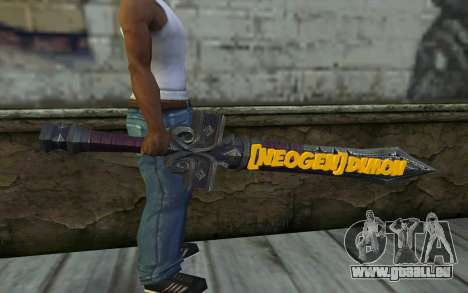 Sword from World of Warcraft für GTA San Andreas dritten Screenshot