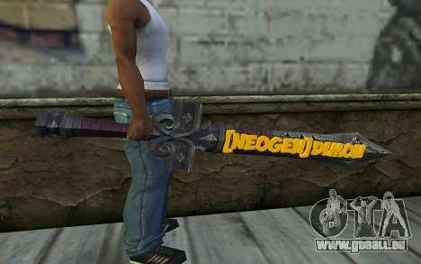 Sword from World of Warcraft pour GTA San Andreas troisième écran