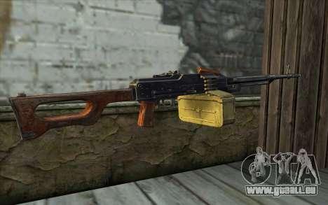 La Mitrailleuse Kalachnikov Modernisé pour GTA San Andreas deuxième écran