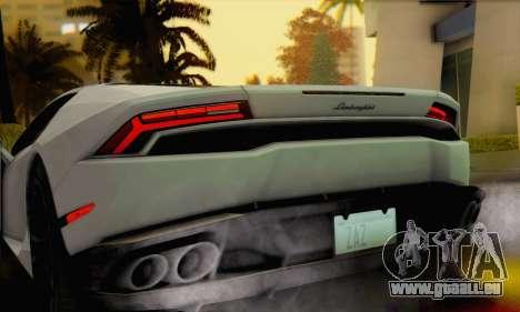 Lamborghini Huracan 2014 pour GTA San Andreas sur la vue arrière gauche