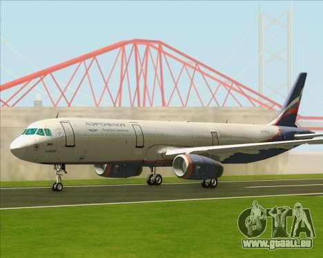 Airbus A321-200 Aeroflot - Russian Airlines pour GTA San Andreas laissé vue
