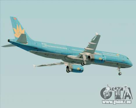 Airbus A321-200 Vietnam Airlines pour GTA San Andreas vue intérieure