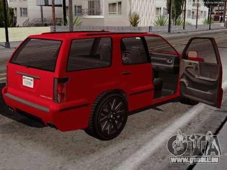Albany Cavalcade pour GTA San Andreas vue arrière